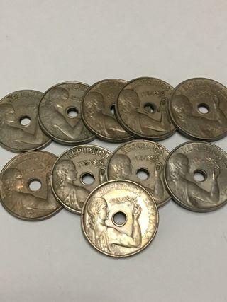 Moneda 25 céntimos 1934