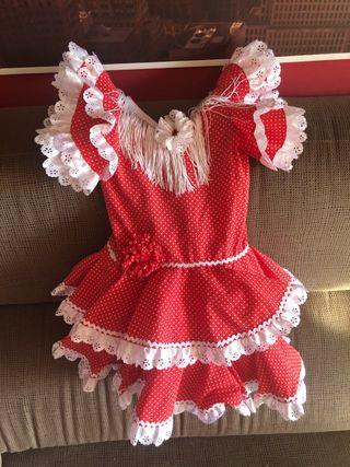 Vestido flamenco lunares rojo
