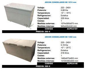 ARCONES DE CONGELACIÓN PUERTA ABATIBLE