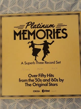 3 lp vinilos.platinum memories