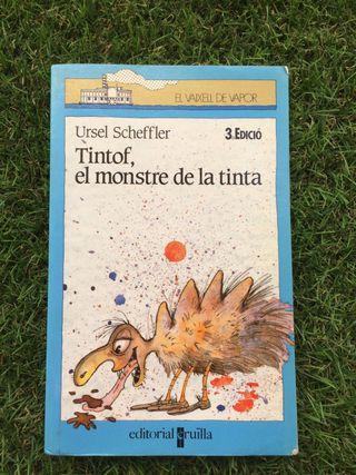 """Libro en catalán """"Tintof, el monstre de la tinta"""""""