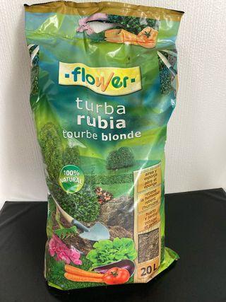 Turba rubia para plantas carnívoras. 20 l.