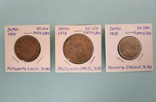 Monedas Japonesas de Plata Antiguas