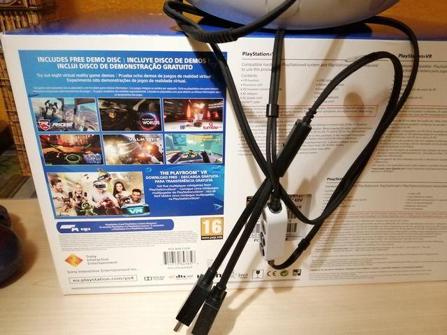 Casco Vr PS4, cámara PS4 y dos juegos
