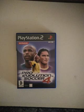 vendo juego de ps2 pro evolucion soccer 4