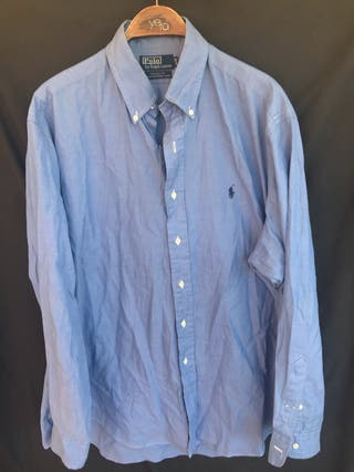 POLO RALPH LAUREN Camisa azul talla 16.5 - 42