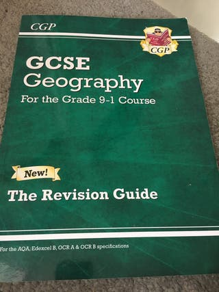 GCSE geography revision book