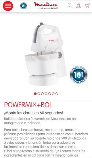 Batidora amasadora Moulinex 500w