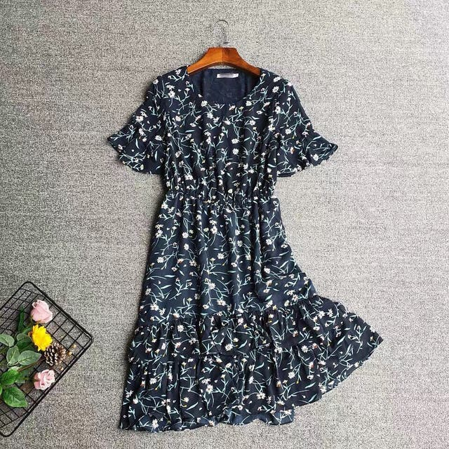 floral mini summer dress
