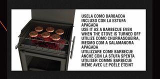 Estufa leña - plancha y Barbacoa