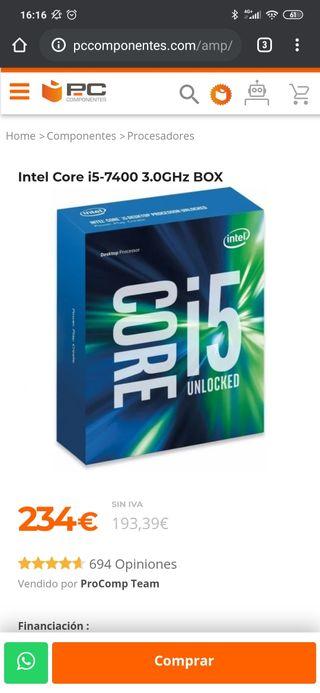 procesador intel i5 7400