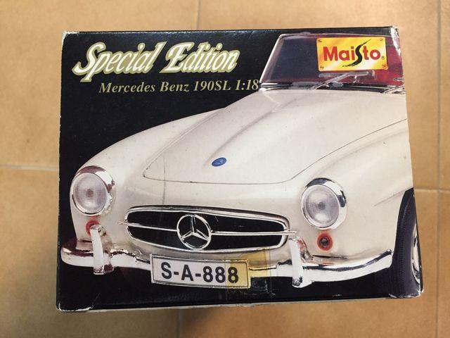 Maqueta de Mercedes Benz 190 SL 1/18