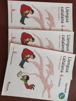Libros llengua catalana. 4 primaria.