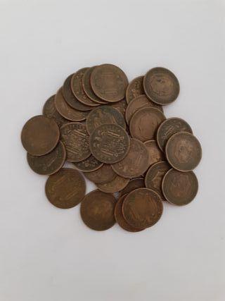 Lote 50 monedas 1 peseta 1947