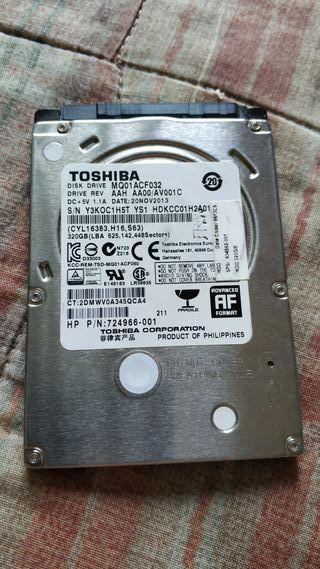 """HDD 2,5"""" 320GB Toshiba"""
