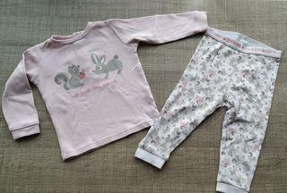 Pijama bebé de algodón T:9-12m.Ropa bebé
