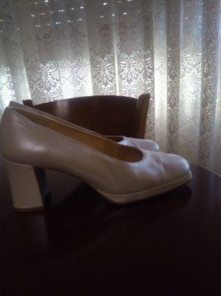 zapatos novia piel,con plataforma