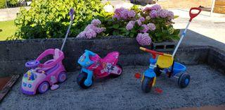 Correpasillos, moto y triciclo