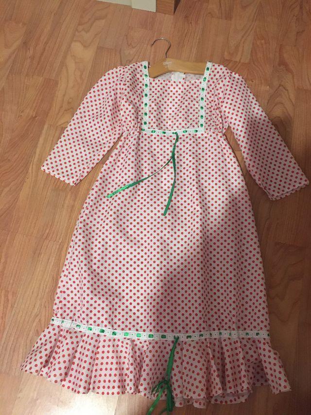 Disfraz vestido chulapa niña