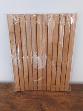 NUEVA - Alfombra de baño bambú natural (60x40cm)
