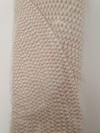 NUEVA - Alfombra redonda cuerda blanco-beige 90 cm