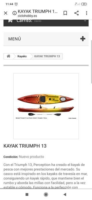 kayak Triumph 13 perfeccion