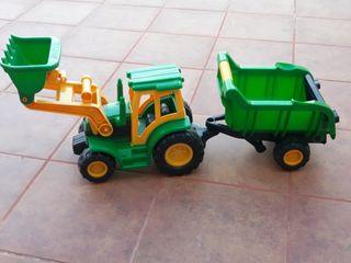 tractor y remolque de plástico para niños