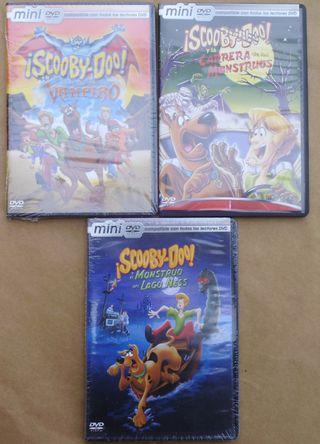 3 MINI DVD DE SCOOBY-DOY NUEVOS