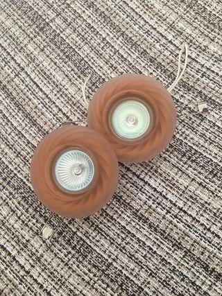 2 ojos de buey de cristal