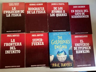 Lote 8 libros de Física. Divulgación.