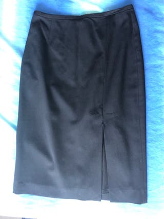 Falda negra massimo dutti de vestir talla 38