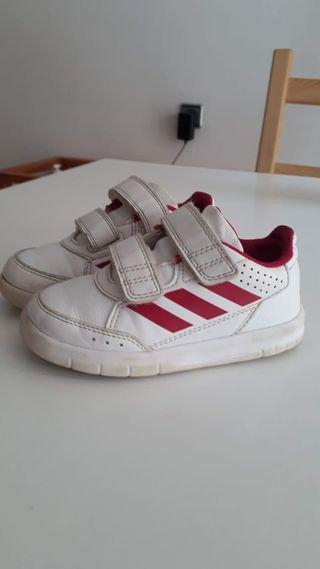 Zapatillas niña 24 Blanco/Rosa buen estado