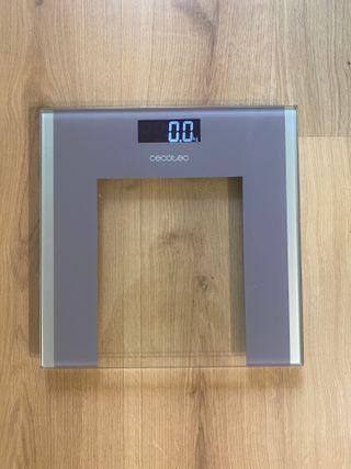 Báscula de baño digital de cristal pantalla LCD