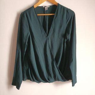 blusa office verde