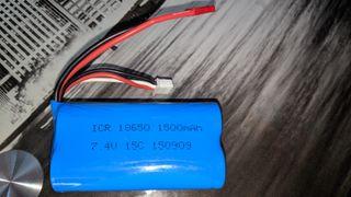 Batería para Radio Control ICR 18650 7,4V 1500mAh