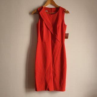vestido midi ajustado