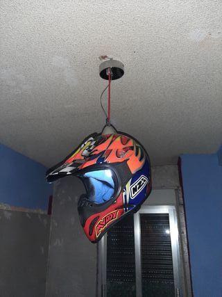 lámpara de casco de motocross
