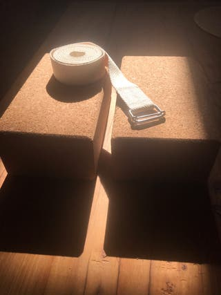 2 Ladrillos y cinturón de Yoga Kit NUEVO