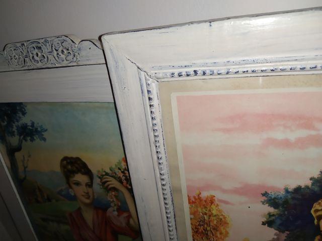 Pareja de cuadros restaurados
