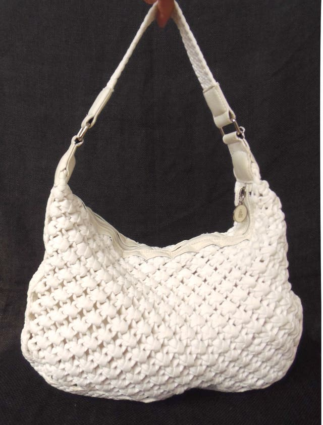 fun & basic bolso blanco cremallera