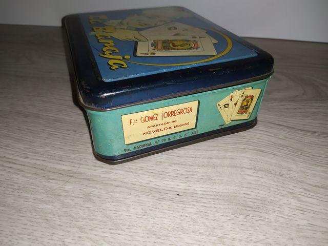 caja lata antigua azafrán la baraja