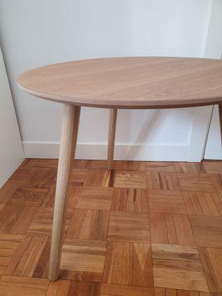 NUEVA - Mesa auxiliar redonda estilo nórdico