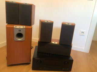 Home cinema 5.1 JBL + amplificador Marantz