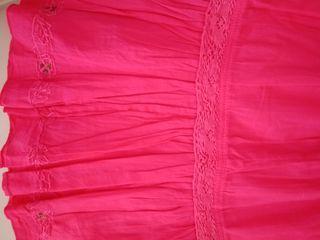 Falda larga niña Confetti rosa