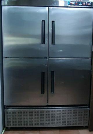armario frigorífico y congelador