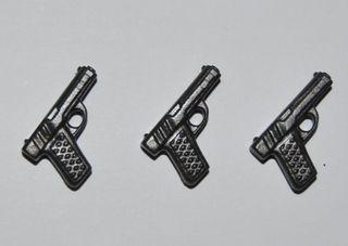 PLAYMOBIL 3X PISTOLA POLICIA MILITAR RIFLE ARMA