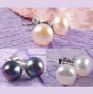 Pendientes Perlas y plata de ley