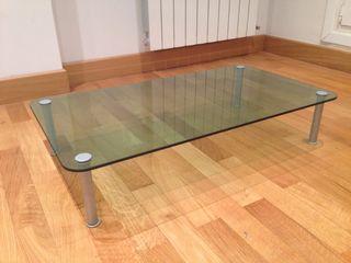 Mesa de cristal para salón