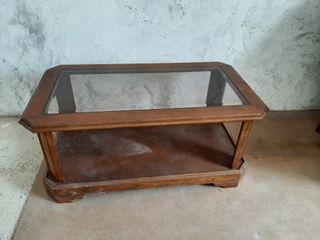 mesa de centro de castaño
