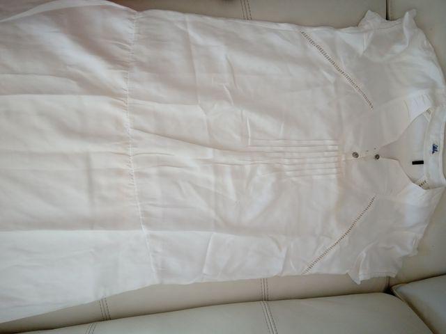 vestido niña IKKS blanco recto